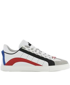 DSQUARED2 Dsquared2 Men'S White Leather Sneakers'. #dsquared2 #shoes # sneakers | Dsquared2 Men | Pinterest