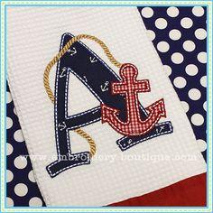 Nautical Applique Alphabet - looooove it!