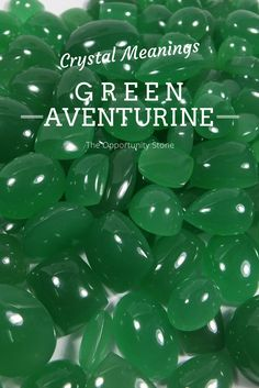 "Green Aventurine is the ""Stone of Opportunity"" and helps align your energies in a way that can attract luck and success. -- Green Aventurine Meaning and Uses"