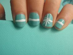 Tiffany box nails - I'm strangely attracted to the Tiffany box color for nail polish. Tiffany Box, Tiffany And Co, Tiffany Outlet, Tiffany Green, Bb Beauty, Beauty Nails, Cute Nails, Pretty Nails, Hair And Nails