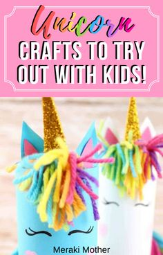 This unicorn craft is the perfect isolation craft activity to try out if you've got a unicorn obsessed kid stuck at home! #unicorn #craftsforkids #artsandcraftsforkids #activitiesforkids #isolationactivities #unicorncrafts