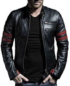 Leather4u kL767 veste pour homme en cuir noir Veste Cuir Homme, Manteau  Homme, Cuir 0388ab1aa2c1