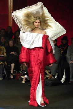 Viktor and Rolf- looks like she is bringing the bed with her or she just can't leave it behind...