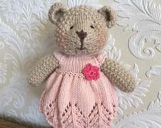 Hand Knitted Bear Large Size