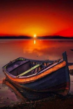 please take your time, there is much to see here! Nature Pictures, Beautiful Pictures, Boat Art, Boat Painting, Beautiful Moon, Sunset Photos, Sunset Photography, Landscape Photos, Beautiful Landscapes