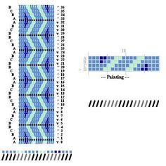 Pattern I designed for tablet weaving