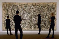 Jackson Pollock paintings on John Cage music Wyoming, Abstract Expressionism, Abstract Art, Jackson Pollock Art, Pollock Paintings, Oil Paintings, Pop Art, Lee Krasner, John Cage