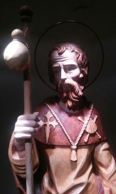 Santiago Apostol patrono de Santiago de Compostela Camino Way, The Camino, San Santiago, Medieval, Vatican Rome, Civil War Art, Pilgrims, Saint James, New Day