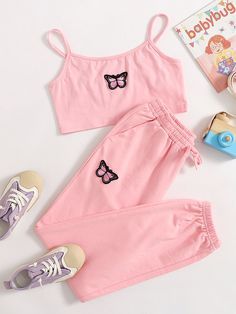 Really Cute Outfits, Cute Lazy Outfits, Crop Top Outfits, Pretty Outfits, Baddie Outfits Casual, Sporty Outfits, Stylish Outfits, Girls Fashion Clothes, Teen Fashion Outfits