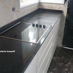 Pin de marmoleria karpoff en mesadas en granito negro for Precio metro lineal encimera granito nacional