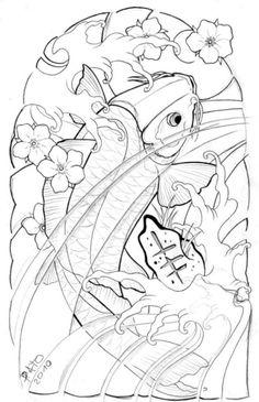 koi half sleeve by patoink on DeviantArt Tattoos Masculinas, Half Sleeve Tattoos Drawings, Tattoo P, Half Sleeve Tattoos Designs, Asian Tattoos, Half Sleeve Tattoo Stencils, Tattoo Outline, Koi Tattoo Design, Full Sleeve Tattoo Design