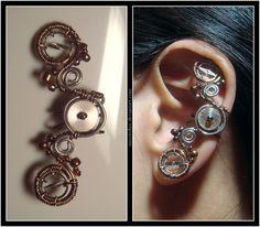 Balance Wheel ear cuff