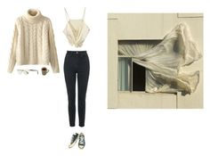 """Untitled #943"" by mywayoflife ❤ liked on Polyvore featuring Converse, Chicnova Fashion, Oliver Peoples and Topshop"