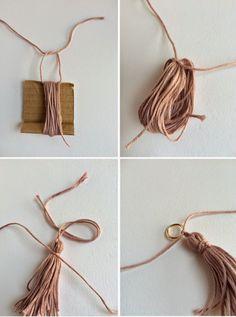 elcuadernodeideas: Gargantilla con borlas