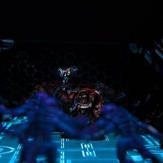 Laser Terrain with light up floor - #terminators #40k #tablegames #laserterrain models by @brushdemon