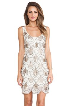 TFNC London Angela Embellished Mini Dress in Cream & Gold from REVOLVEclothing  Ideas for christening, Love this