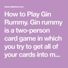rummy card game rules pdf