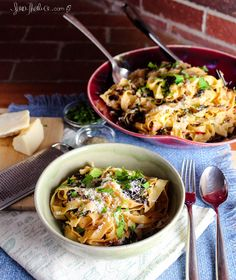 A springy carbonara with Swiss chard and leeks, perfect for a drizzly spring day. Tasty Kitchen, Recipe Community, Pasta Salad, Main Dishes, Cooking, Spring, Ethnic Recipes, Pork Recipes, Grains
