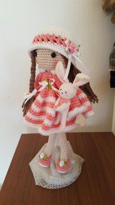 "Auftragsarbeit  ""April"" Pattern: Carmen Rent  04/2017 Crochet Hats, Dolls, Children, Pattern, Knitting Hats, Kids, Puppet, Doll, Model"