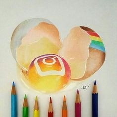 Instagram [as an egg] (Drawing by Unknown) #SocialMedia