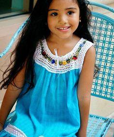 This Cyan Lucila Yoke Dress - Infant, Toddler & Girls by Little Cotton Dress is perfect! #zulilyfinds