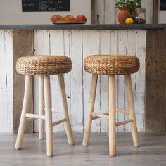 Rustic wood bar stools