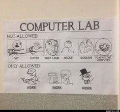 Computer Lab The Rules