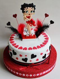Betty Boop Cake by Violeta Glace Happy Birthday Betty Boop, Bithday Cake, Cake Birthday, 55th Birthday, Husband Birthday, Birthday Ideas, Betty Boop Figurines, Betty Boop Cartoon, Betty Boop Pictures