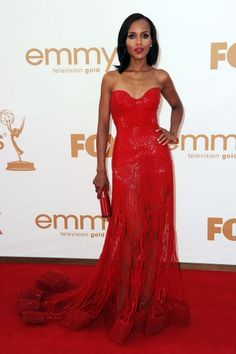 Pictures : 2011 Emmy Awards Dresses - Kerry Washington in Zuhair Murad Red Gown Red Carpet Gowns, Red Gowns, Blake Lively, Celebrity Red Carpet, Celebrity Style, Celebrity Dresses, Emmys Best Dressed, Beautiful Dresses, Nice Dresses