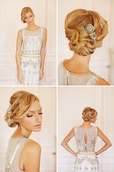 Um yes. Definitely want a vintage inspired embellished gown. Dress from Luella's Boudoir.