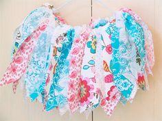 Pink Aqua Turquiose fabric tutu with by CaitlinsCreations4U, $27.00