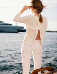 @MacKenzie Horan {Design Darling} in our Worth Skinny Mini Jean in Resort White
