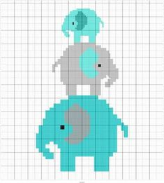 Thrilling Designing Your Own Cross Stitch Embroidery Patterns Ideas. Exhilarating Designing Your Own Cross Stitch Embroidery Patterns Ideas. Elephant Cross Stitch, Cross Stitch Baby, Cross Stitch Charts, Cross Stitch Embroidery, Embroidery Patterns, Cross Stitch Animals, Crochet Elephant Pattern, Crochet Blanket Patterns, Baby Blanket Crochet