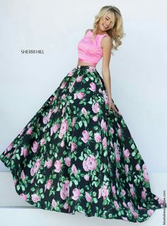 ~Dress~ ~Long~ ~Floral~ ~Pink~ ~Green~ ~Black~