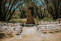 Ceremony in the gorgeous forrest. Venue: Solitaire Homestead. Photography by Shannon Stent Images.