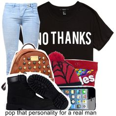 No Thanx ., created by trillest-queen on Polyvore