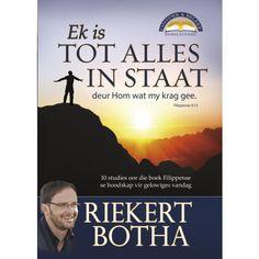 Ek is tot alles in staat - Bybelstudie oor Filippense Riekert Botha Christianity, Study, Celebs, Celebrities, Studio, Studying, Celebrity, Research, Famous People