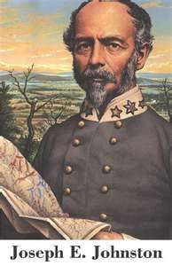 "Confederate General Joseph E. Johnston. Called ""Uncle Joe"" by his men, he was well liked by his soldiers; fought Sherman before Atlanta and then later in the Carolinas. The Battle of Bentonville was his last, desperate effort to halt Sherman; see Chapter 27 of Ghosts and Haunts of the Civil War."