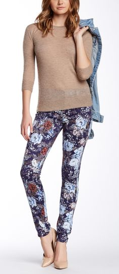 These Floral Printed Skinny Jeans would be perfect for a fun brunch.