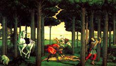 Ucello 1397-1475, Paolo, Italy.The story of the Nastagio degli Onesti