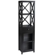 Another Bathroom great piece for the bathroom.....Eliott Tall Cabinet Shelf - Black