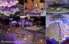 Decoraciones para fiesta de bodas.