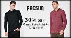 30% Off on Mens's #Sweatshirts & #Hoodies On #PacSun  #Shopping #Discount #Chirstmas