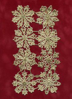 SNOWFLAKE DRESDENS, Dresden Snowflakes, Die Cut Snowflakes, Gold Foil Snowflakes, Gold Paper Snowflakes,  Dresdens by OneDayLongAgo on Etsy