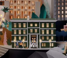 Paper sculpture featuring some Soho House hotels from around the world