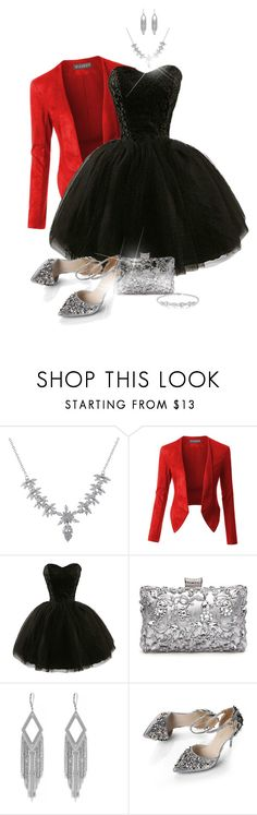 """""""Party Dress"""" by laaudra-rasco ❤ liked on Polyvore featuring Luxiro, LE3NO and Jessica Simpson"""