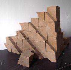 """Brick - another project by Leanie van der Vyver -- """"A single brick that can be constructed to build walls and also turns rain into a water feature."""""""
