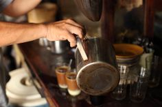 Di sebuah warung kopi di Belitung