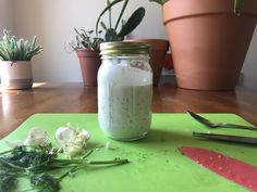 Homemade is Better: Garlicky Ranch Dressing Recipe – Sustaining Sara Ranch Dressing Recipe, Homemade Ranch Dressing, My Favorite Food, Favorite Recipes, Fresh Dill, Bettering Myself, Sustainability, Mason Jars, Hiking