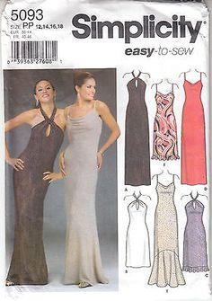 Evening Bride Bridesmaid MOB Dress Wedding Simplicity Sew Pattern 5093 Sz 12-18